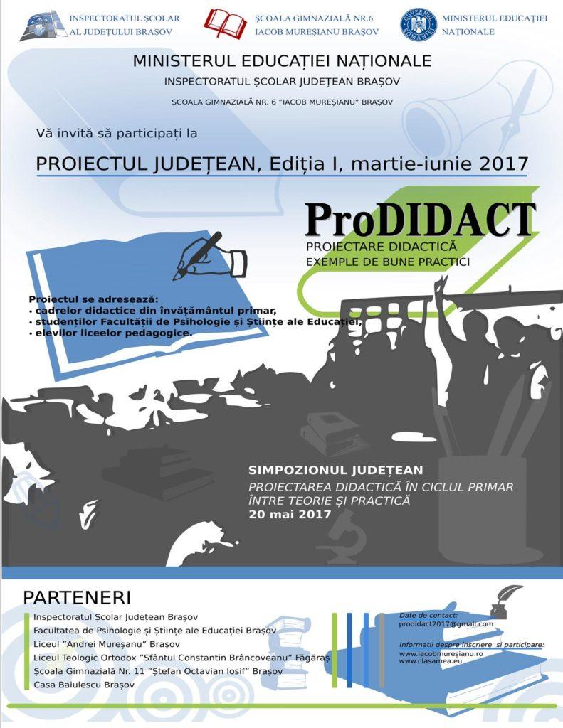 Afis proiect ProDidact